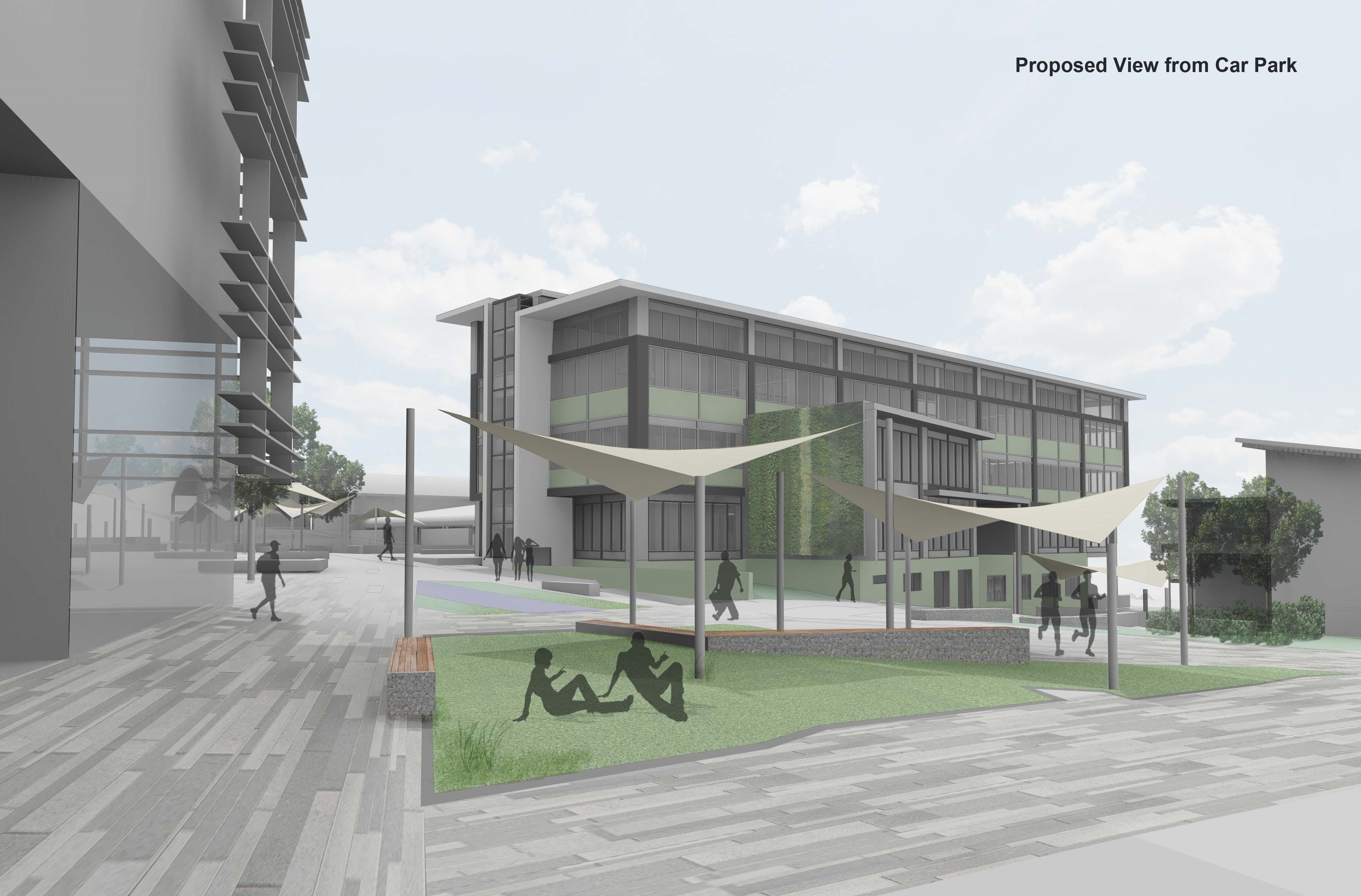 Proposed View From Car Park
