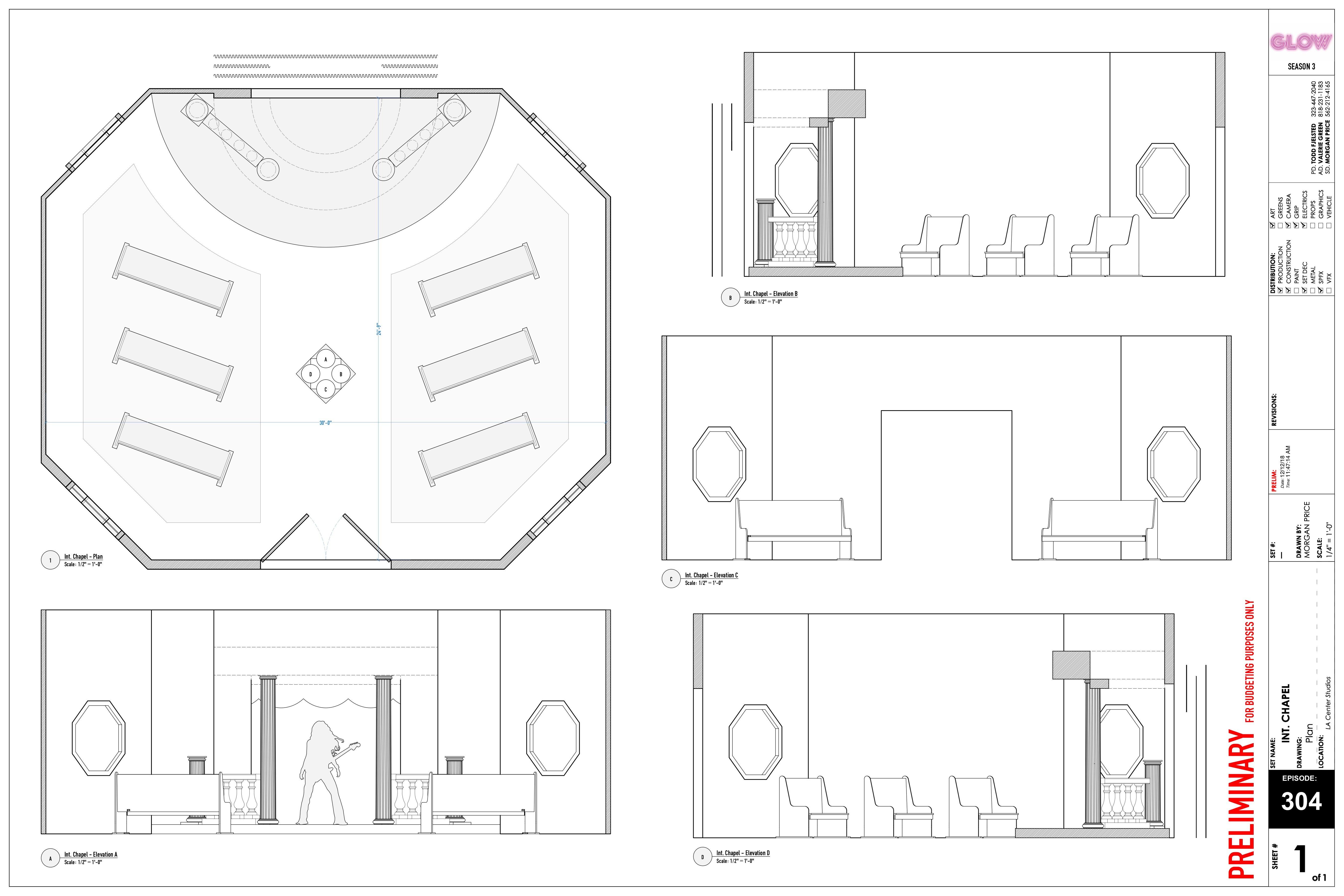 GLOW S3 - Ep. 303 - Int. Chapel