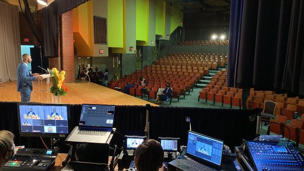 Behind the scenes of a virtual high school graduation by Eventions Productions