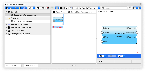 Screenshot of design software