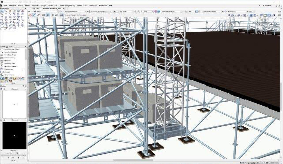 production designed in vectorworks software