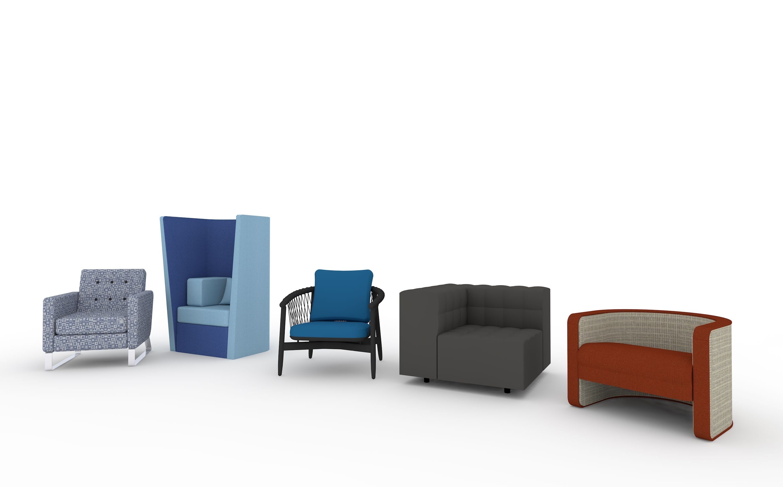 Herman Miller furniture in vectorworks design software