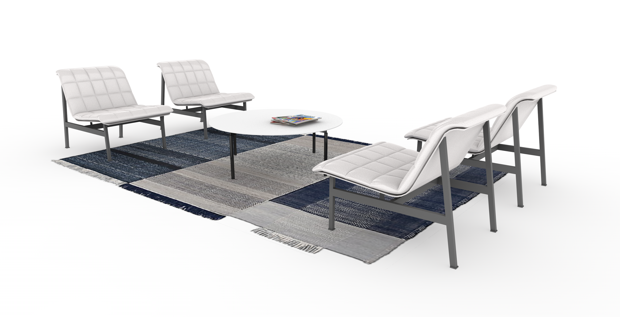 Lounge set created with subdivision