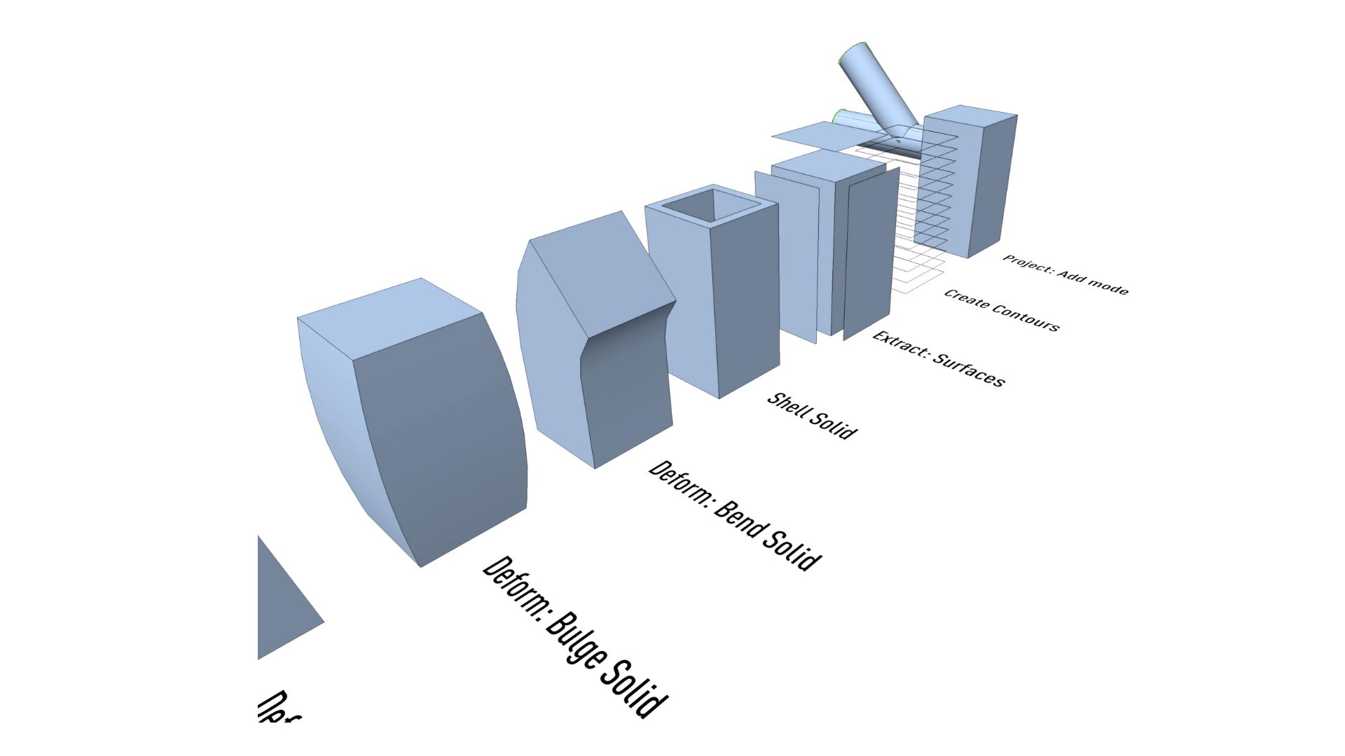 Solid Modeling modes in vectorworks design software