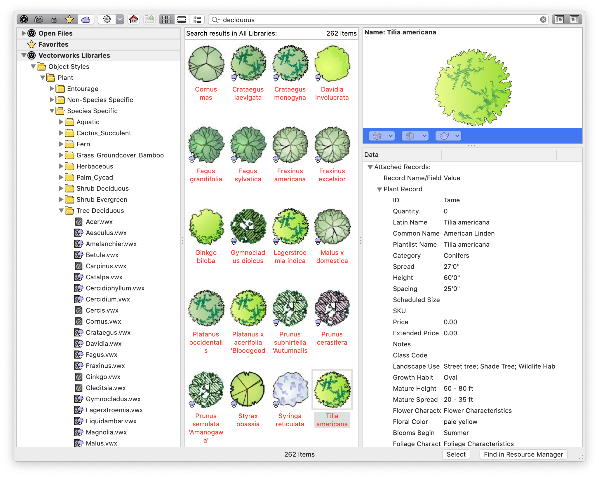Plant Resource Selector
