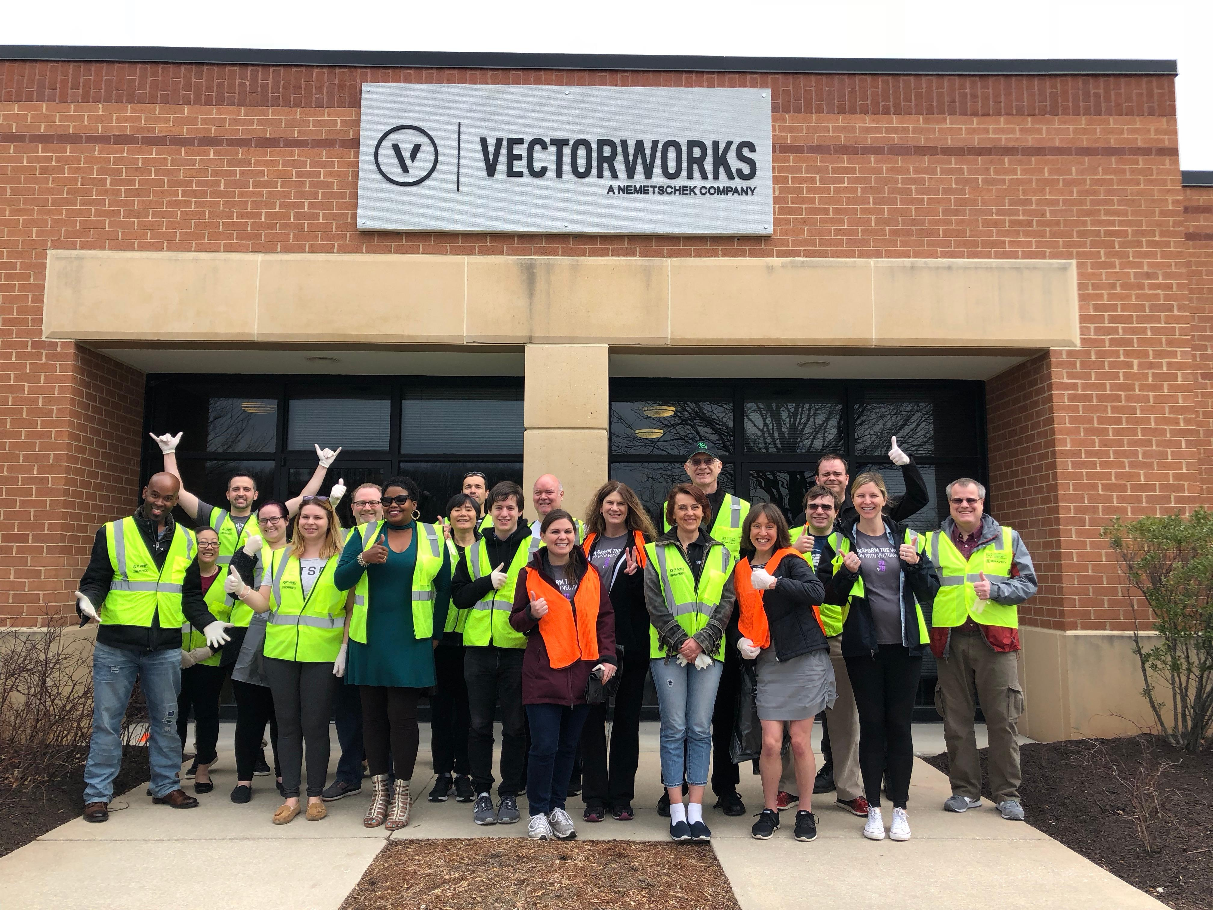 Vectorworks Employees Get Down and Dirty Honoring Earth Day