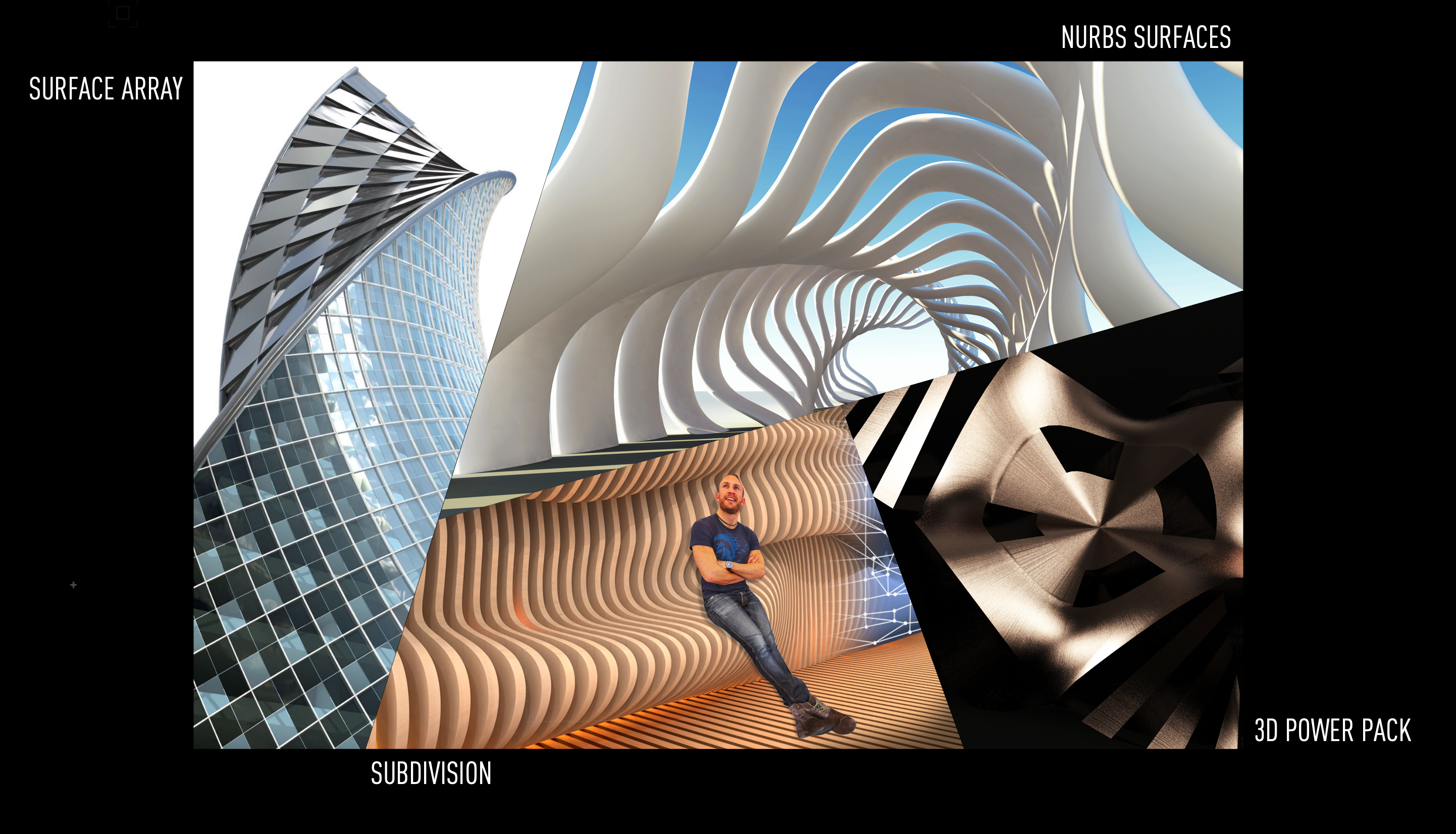 Surface Array, NURBS, Subdivision in Vectorworks