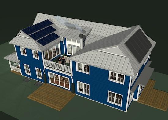 Glencoe House rendering by Nathan Kipnis