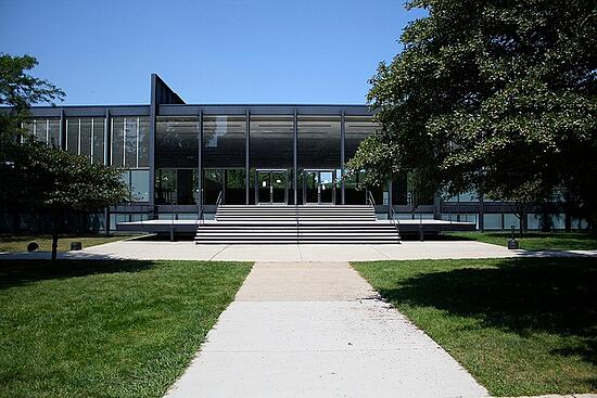 Mies' S.R Crown Hall at the Illinois Institute of Technology. Photo courtesty of Naotake Murayama.