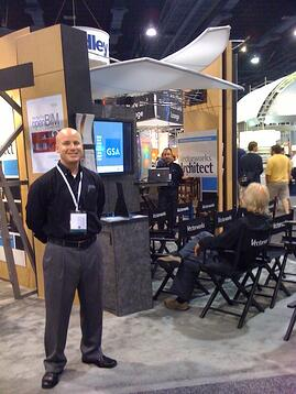 Members of the NNA team at the Vectorworks booth at the AIA 2010 National Convention.