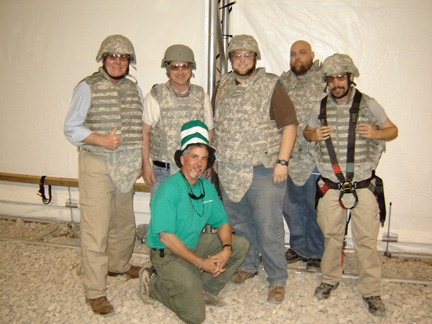 Greg Pitcher (far left) and members of his Vectorworks user group in Afghanistan