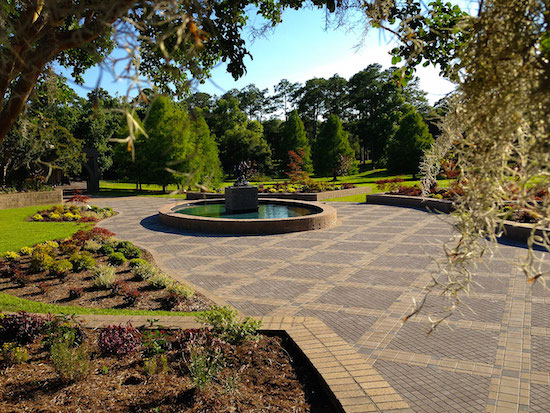 Fillies Playing sculpture plaza at Brookgreen Gardens.