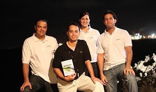 From left to right: Ruben Hernandez, Luis Ruiz, Irina Angulo, and Ricardo Valdez.