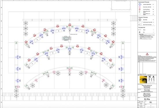 Lighting plot with Vectorworks Spotlight