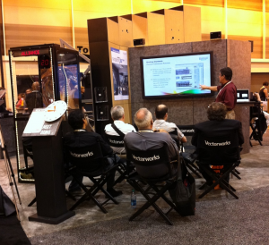 Architect David LaBarbera gives a presentation at the Vectorworks booth.