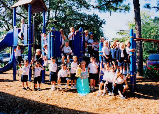 Playground at St. Andrew Catholic Church and School.