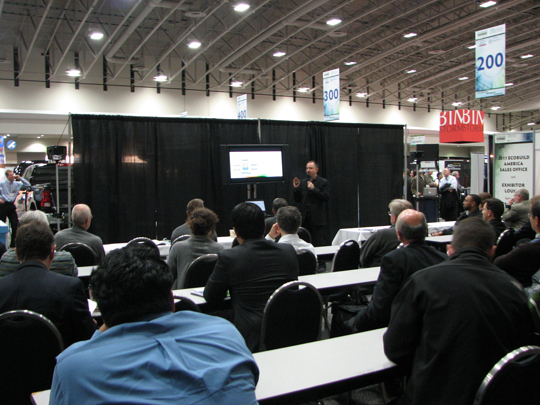Jeffrey Ouellette, Nemetschek Vectorworks' BIM expert, during one of his presentations at EcoBuild America.