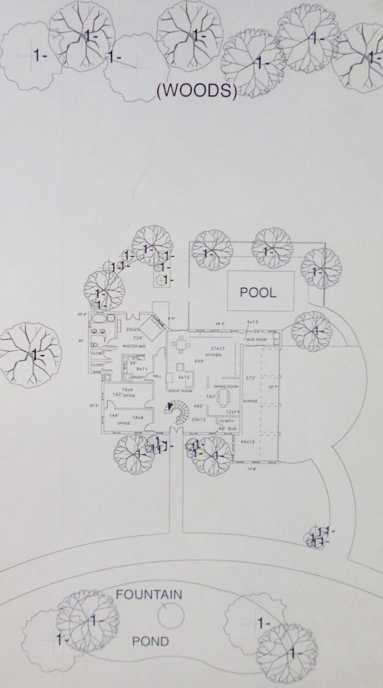Plan of proposed house designed by one of Cognac's eighth-grade students.