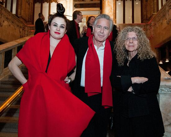 Eva Franch i Gilabert, Bernard Tschumi, Barbara Kruger at 2012 Spring Benefit (Photo: Courtesy of Storefront for Art and Architecture)