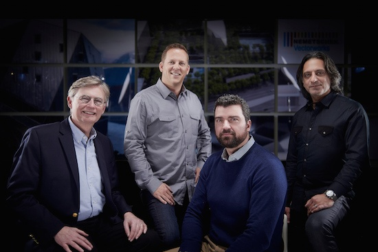 From left to right, Architects Steve Alden, Dylan Chappell, Michael Timcheck, and Ali Honarkar, Business of Creativity participants