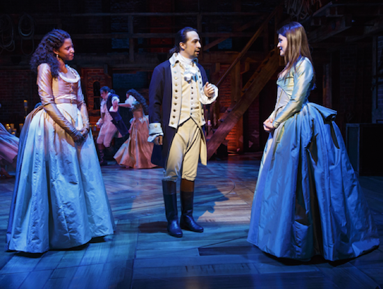 """Hamilton"" at the Public Theatre, photo by Joan Marcus"