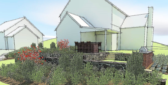 Rendering of the Highland Mede residence. Image courtesy of maffei landscape design, LLC.
