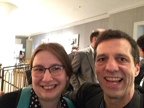 Brault and Warren snapped a selfie at the Design Summit.