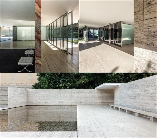 The Barcelona Pavilion designed by Ludwig Mies van der Rohe, the inspiration behind YTAA.