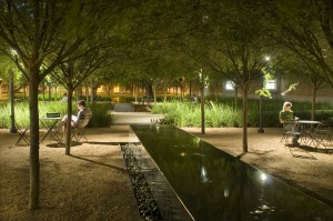 The Raymond & Susan Brochstein Pavilion at Rice University, with landscape design by The Office of James Burnett.