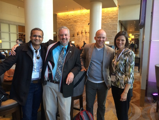 Bates (second from left) at ASLA Annual Meeting with former and upcoming Chapter Presidents Council Chairs.