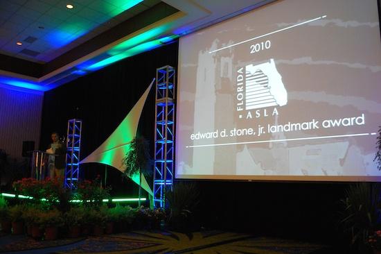 Presentation of the Edward D. Stone, Jr. Landmark Award at the 2010 FASLA Award Ceremony.
