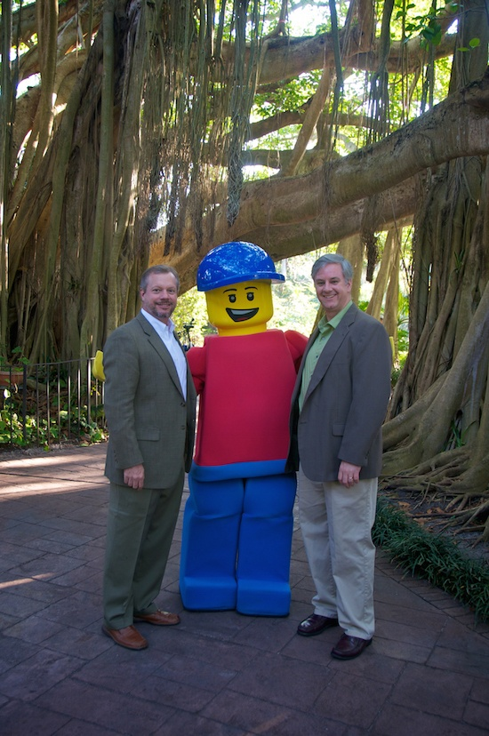 Bates enjoying the park's success with lead Landscape Architect Todd McCurdy at LEGOLAND® Florida.