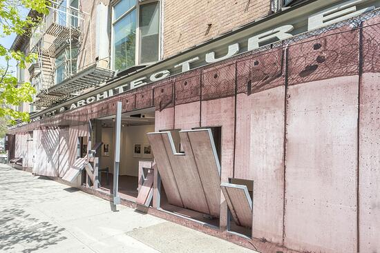 Memory Trace by Fazal Sheikh, now on display at Storefront (Photo: Cameron Baylock, courtesy of the Storefront for Art and Architecture)