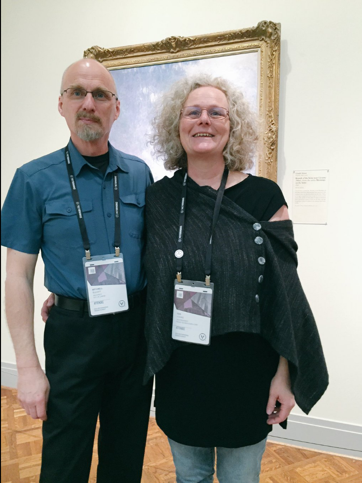 Elliott with Teri Young of Paxar Tech, one of the Vectorworks distributors in Canada, at the Art Institute of Chicago for the Customer Appreciation Party.