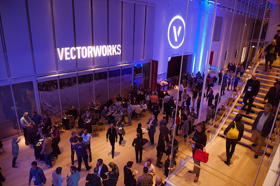 Professionals networking at the 2016 Vectorworks Design Summit in Chicago.