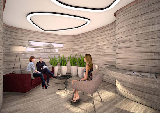 Rendering of the center's Consulting Room.