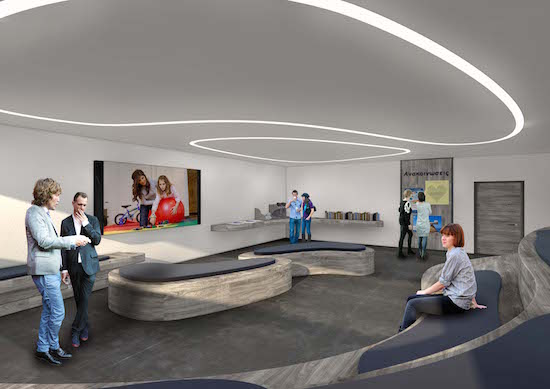 Rendering of the center's Seminar Room.