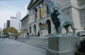 Exterior of the Art Institute of Chicago