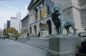Exterior of the Art Institute of Chicago