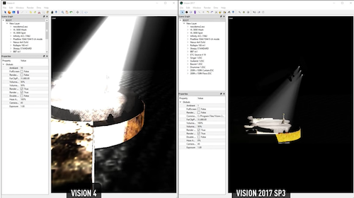 Improved rendering quality and speed in Vision 2017.