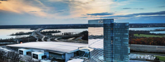An outside view of the MGM National Harbor.