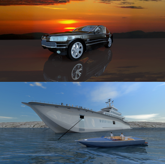 Examples of Paul's work. Images courtesy of Amirault 3D.