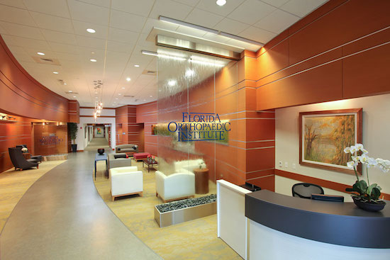 Florida Orthopaedic Institute image courtesy of ROJO Architecture.