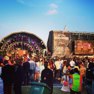 Jack Daniels BOOMTOWN stage, day of event.