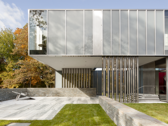 A house located in Dutchess County. Image courtesy of Allied Works Architecture. Photo by Jeremy Bittermann.