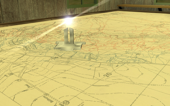 A quick glimpse at the detailed color battle map, as seen in the short film from Amirault 3D.