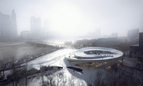 A rendering of the National Veterans Memorial Museum. Image courtesy of Allied Works Architecture. Photo by Mir.