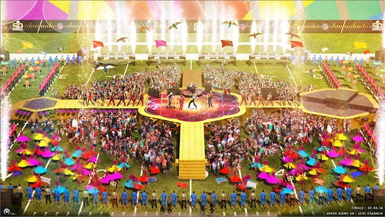 Halftime Show rendering by Tribe, Inc.