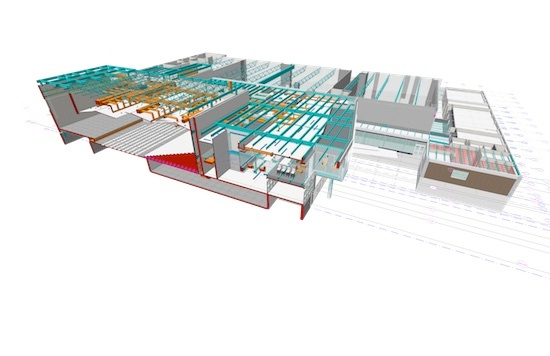 One of Lefebvre's BIM models for a past project. Image courtesy of King + King Architects.