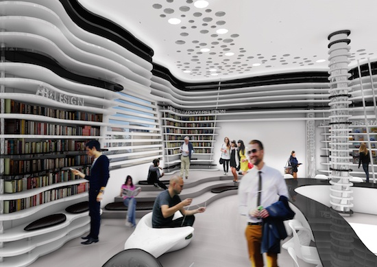 "Vronti's design for ""The Community Library of Limassol."""